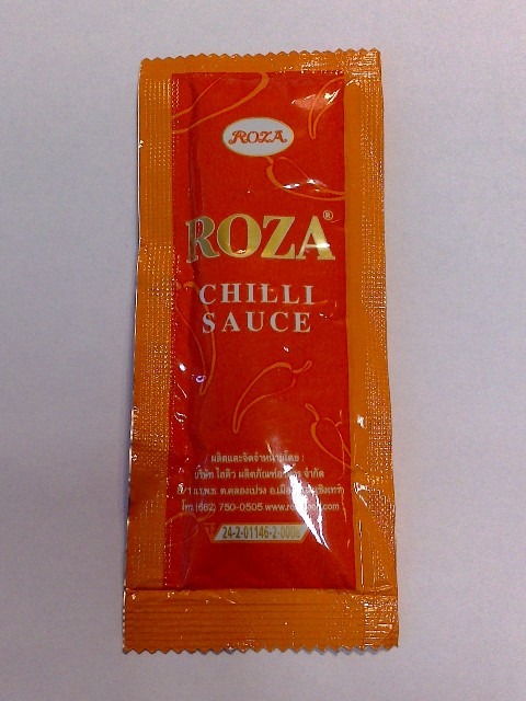 Wie könnte es auch anders sein, es mußte natürlich eine Chili-Sauce sein.