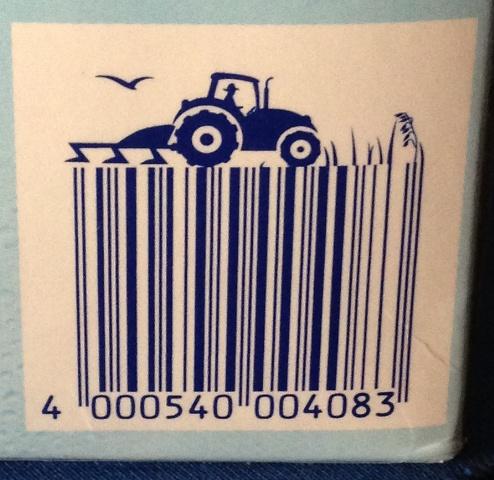 Strichcode auf einer Packung Kakao