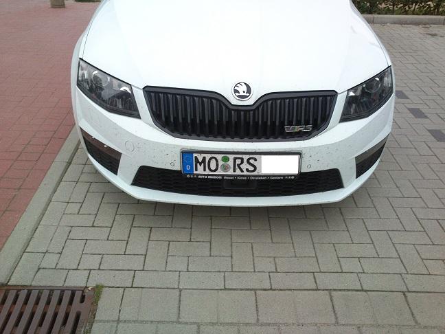 Das Kennzeichen is' für'n Mors...
