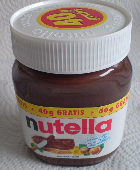 Eben gekauft: Nutella-Glas